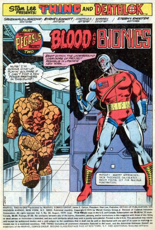 Marvel Two in One 53: The Thing vs Deathlok (1979), dessins de: John Byrne