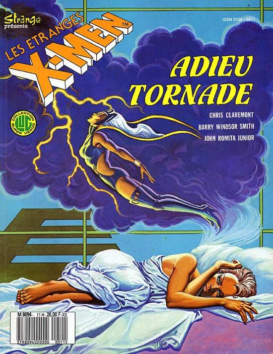 Les étranges X-Men: Adieu Tornade (1987), cover par: Jean Frisano