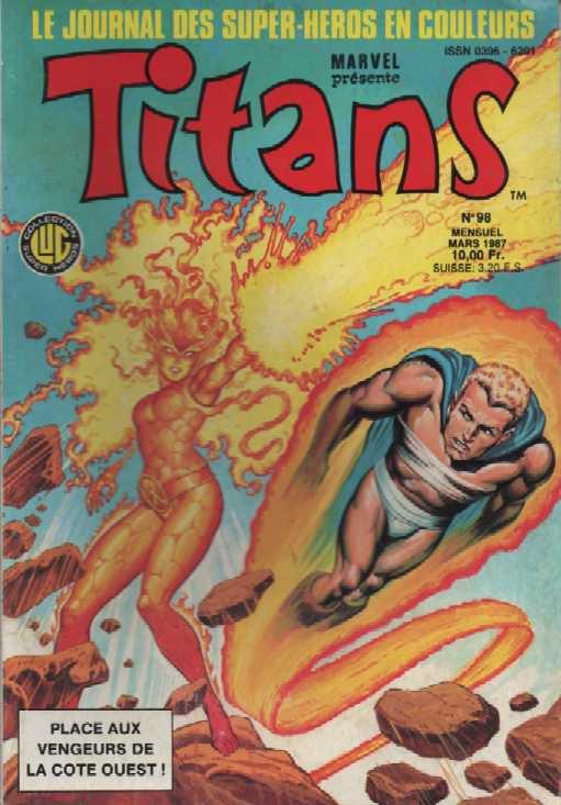 Titans 98 (1987), cover par: Jean Frisano