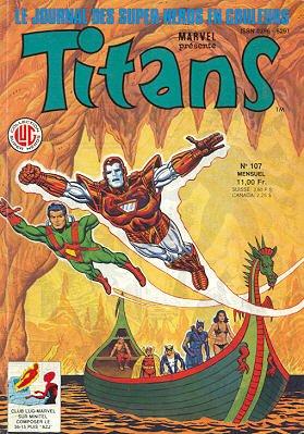 Titans 107 (1987), cover par: Jean Frisano