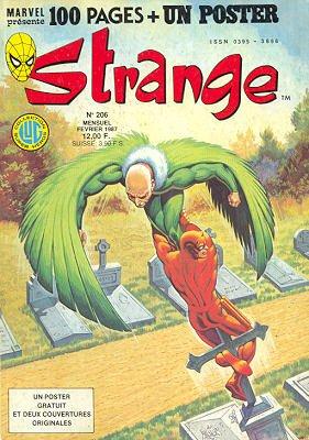 Strange 206 (1987), cover par: Jean Frisano