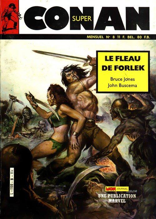 Super Conan 8: Le Fléau de Forlek (1986), cover par: Earl Norem
