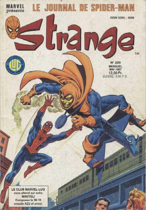 Strange 209 (1987), cover par: Jean Frisano