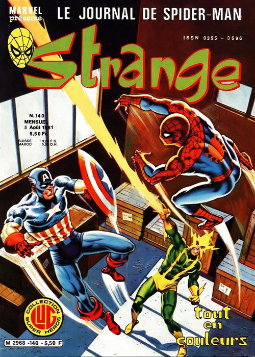 Strange 140 (1981), cover par: Jean Frisano