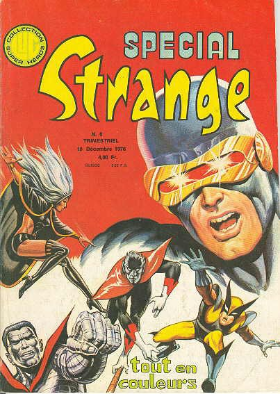 Spécial Strange 6 (1976), cover par: Jean Frisano