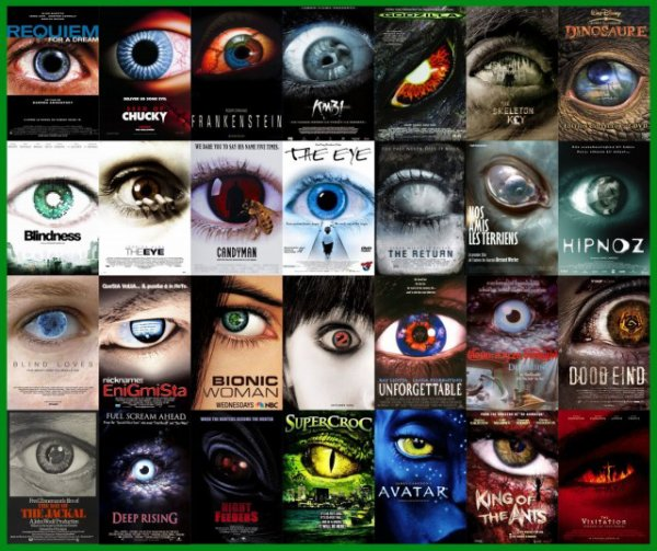Et si vous n'en avez pas eu assez, j'ai encore pleins d'oeils pour vous sur des affiches de films.