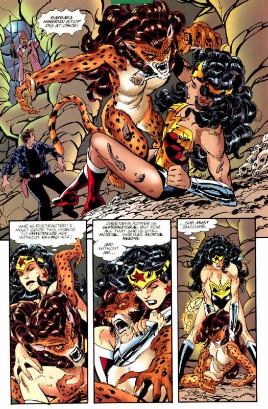 Wonder Woman 117 à 119 (1997), scénario et dessins de: John Byrne