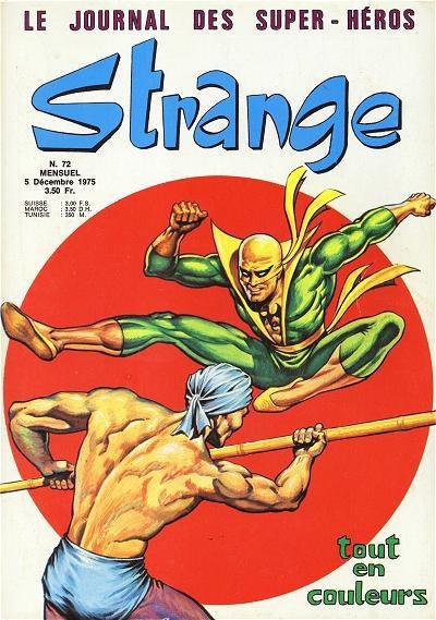 Strange 72 (1975), cover par: Jean Frisano