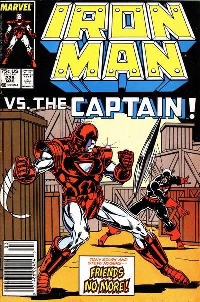 Iron-Man 228 : Iron-Man vs the Captain (1988), dessin de: Mark Bright