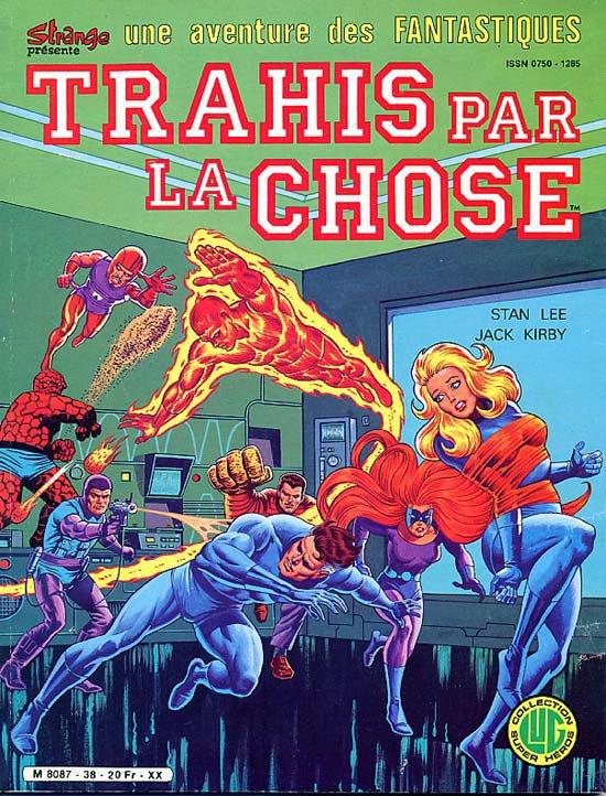 Une aventure des Fantastiques: Trahis par la Chose (1985), cover par: Jean Frisano