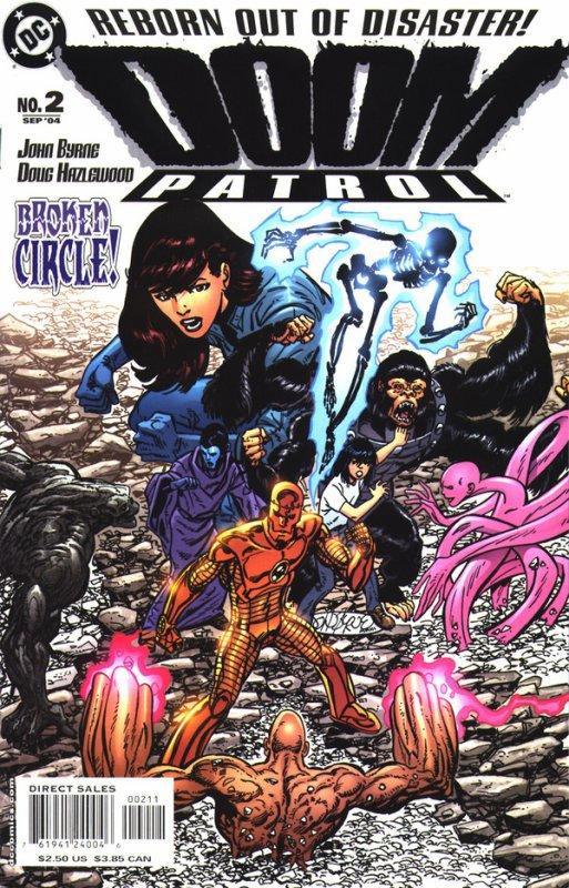 Doom Patrol 2 (2004), dessins et scénario de: John Byrne
