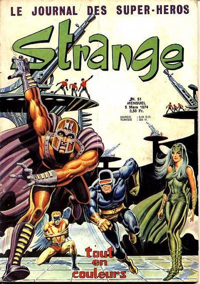 Strange 51 (1974), cover par: Jean Frisano