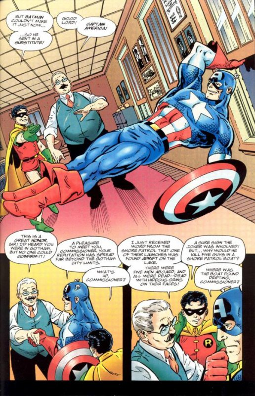 Batman and Captain America (1996), dessins et scénario: John Byrne