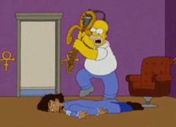 """Hallucinant et flippant: En 2008, le dessin animé """"Les Simpsons"""" avait prédit le meutre de Prince par les Illuminatis"""