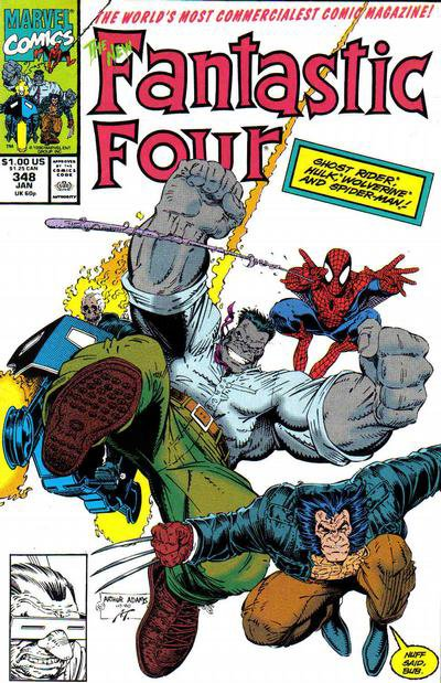 Fantastic Four 348 (1991), cover et dessins par: Arthur Adams