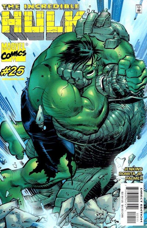 The Incredible Hulk 25 (2000), cover et dessins par: John Romita Jr