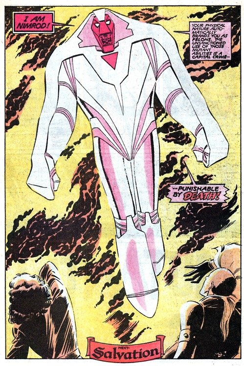 Les étranges X-Men: Nemrod (1988), dessins par: John Romita Jr