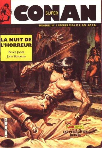 Super Conan 6: La Nuit de l'Horreur (1986), cover par: Earl Norem