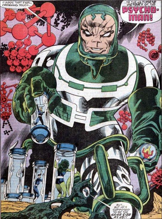Psycho-Man (1993), dessin par: John Byrne