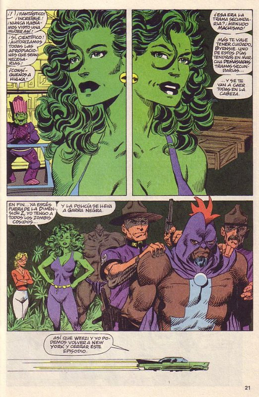 The Sensational She-Hulk 34 et 35 (1992), dessins par: John Byrne