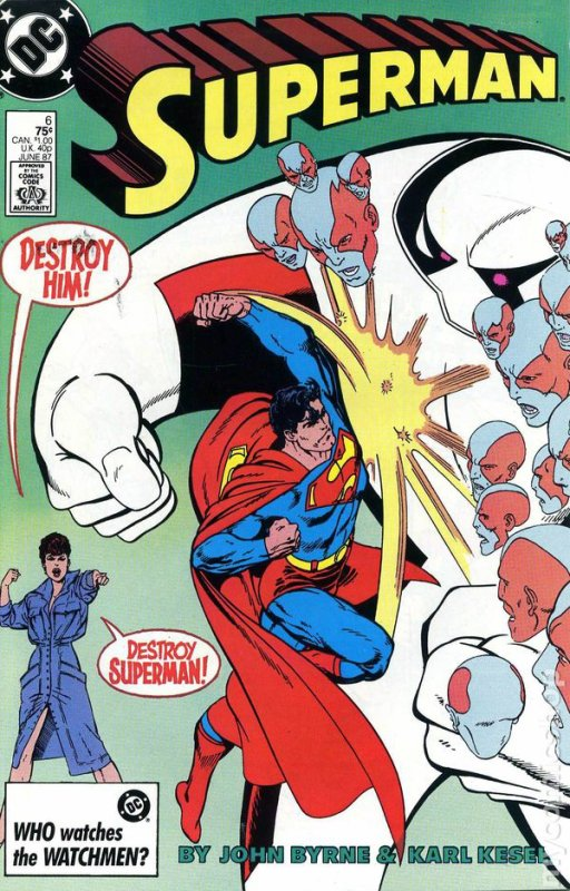 Superman 6 (1987), dessins par: John Byrne