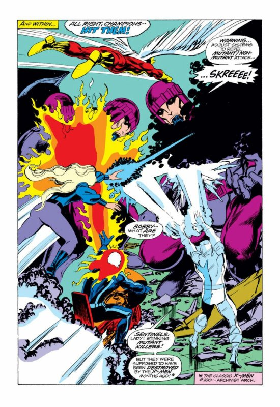 The Champions 17 (1977), dessins de John Byrne