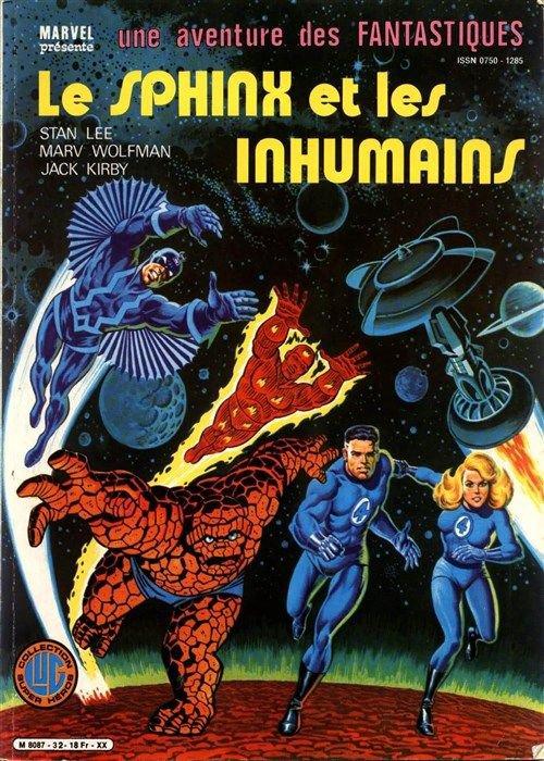 Le Sphinx et les Inhumains (1983), cover par Jean Frisano