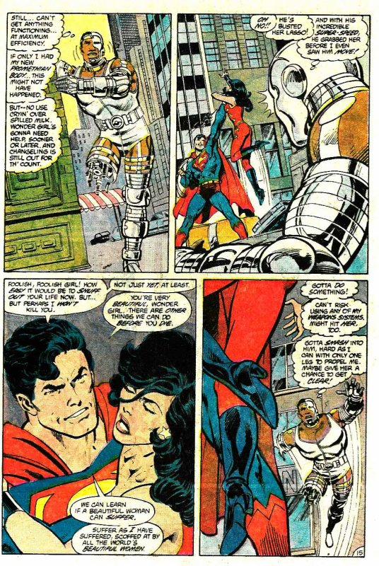 Action Comics 584: Superman & The Teen Titans (1987), cover et dessins par: John Byrne