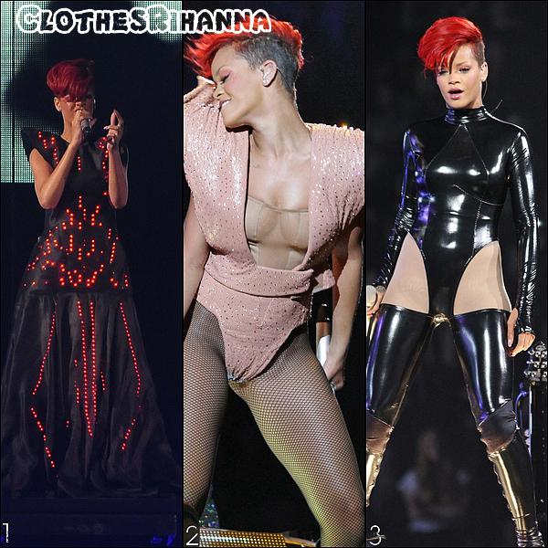 Les tenues du Last Girl On Earth Tour Part 1/Part 2 de Rihanna Choisis ta tenue de scène du LGOET préférée !