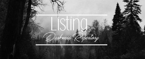 Listing des fictions répertoriées