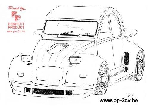 2 cv tuning dessin