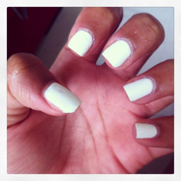 White To White (My Nails) .