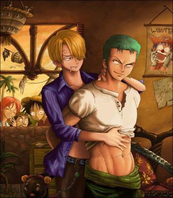 Zoro et sanji en flagrant délit