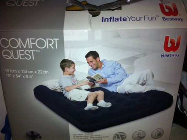 This air mattress is  weird.