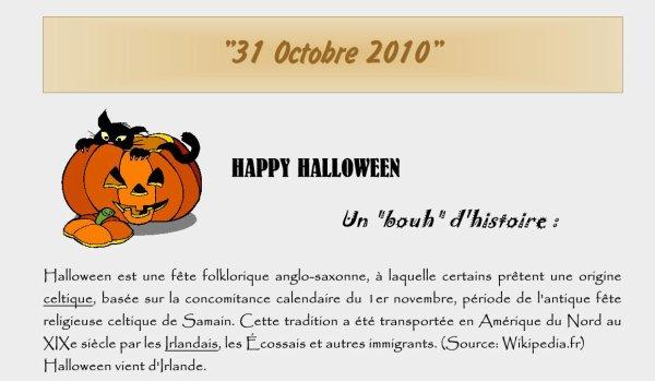 31 Octobre 2010 La Samain (Halloween) & Anniversaire Larry (49 ans)