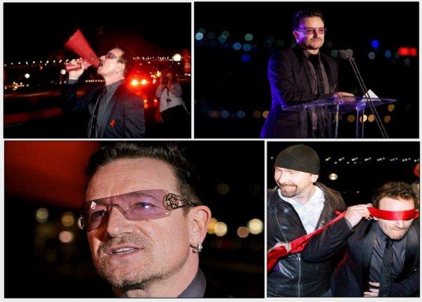 En rouge pour venir à bout du Sida en Afrique. Bono mobilisé [1er décembre 2010] Journée de lutte contre le Sida