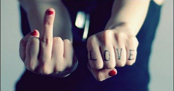 Moi je dis fuck a l'amour.
