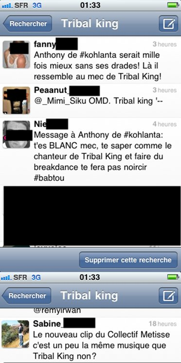 Tribal King Koh Lanta et Collectif Métissé ?