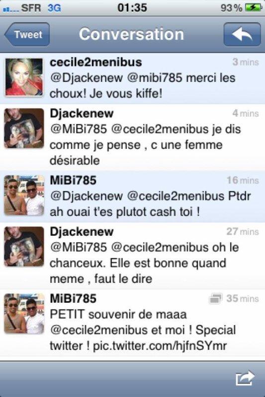 Djackenew et Cecile de Ménibus sur Twitter