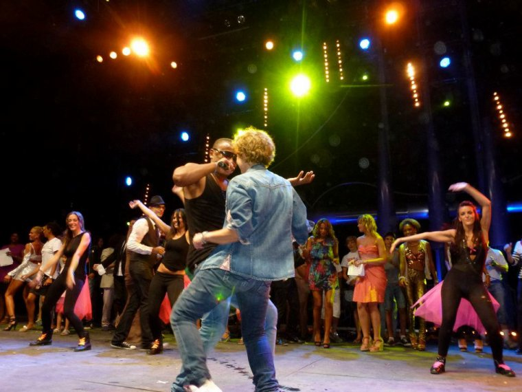 Papa London et Sabine Paturel  Concert Enfant Star et Match Juan les Pins 2012