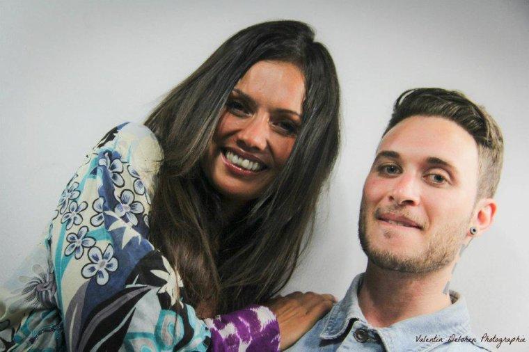 Nony avec Karine Arsene de TV5 a Juan les Pins photos de Valentin Delohen