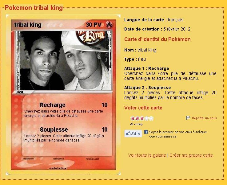 Carte Pokemon Tribal King