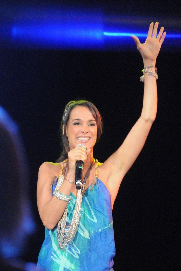 Karine Lima  à la Nuits des Hits à Juan les Pins