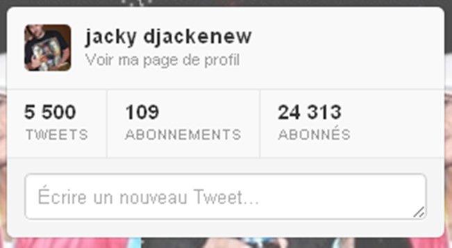 Djackenew sur Twitter