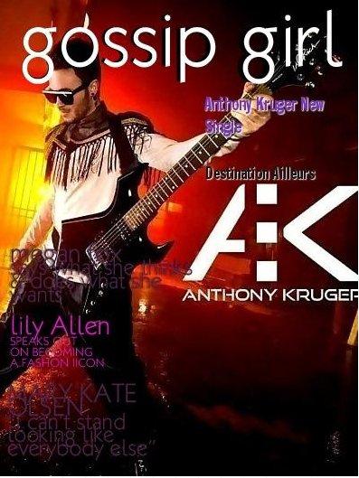 Anthony Kruger dans le magazine Gossip Girl