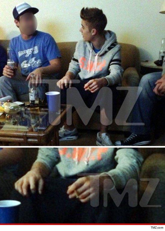 Justine Bieber fume de la drogue de cannabis en joint