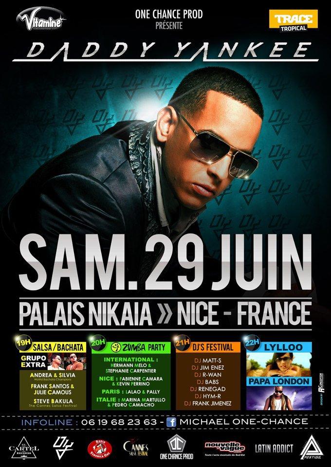 Papa London et Daddy Yankee à Nice au  Palais Nikaia le 29 Juin