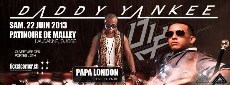 Papa London dans le show de Daddy Yankee le 22 Juin à Lausanne