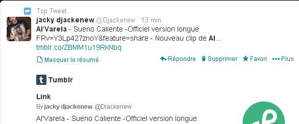 Djackenew en Top Tweet avec Al  Varela