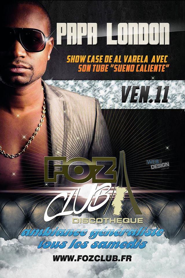 Al Varela en Show Case au Foz Club le 11 Avril